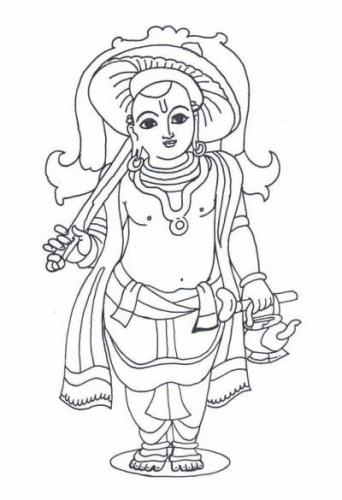Krishna Coloring Pages For Kids